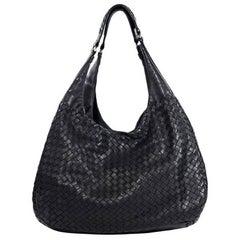 Black Bottega Veneta Woven Leather Shoulder Bag