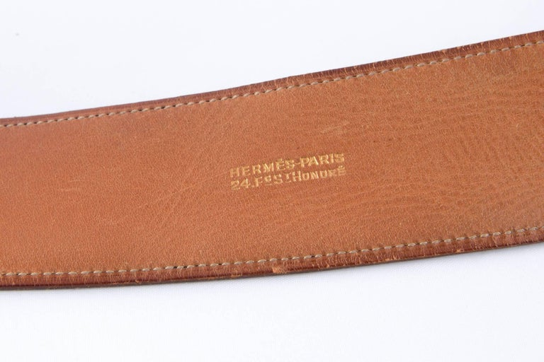 Women's  Black Boxcalf Leather Piano Hermes Belt For Sale