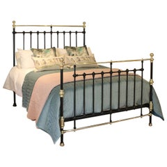Black Brass and Iron Antique Bed MK206