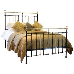 Black Brass and Iron Antique Bed MK211