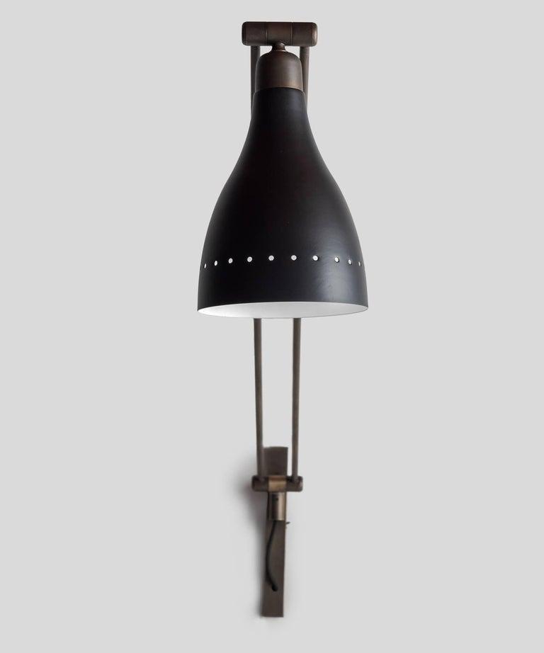 Black & Brass Modern Sconce, Italy, 21st Century In Good Condition For Sale In Culver City, CA