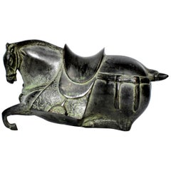Black Bronze Han Style Horse