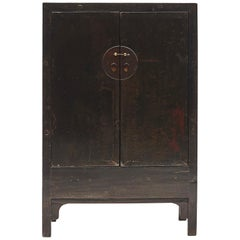 Black/Brown Chinese Qing Dynasty Period Cabinet from Shanxi, 1800-1820