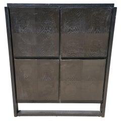 Black Brutalist Cabinet, 1970s