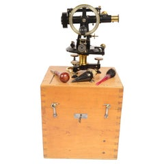 Wien 1860 Burnished Brass Theodolite Antique Surveyor Measurement Instrument
