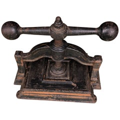 Black Cast Iron Book Press, circa 1900