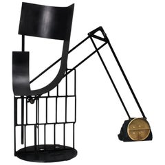 "Functional art Throne / Chair ""Black Caterpillar"" by Lionel Jadot 2020"