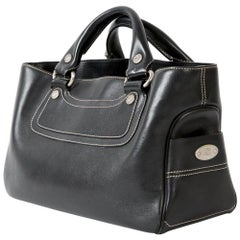 Black Celine Leather Boogie Tote Bag