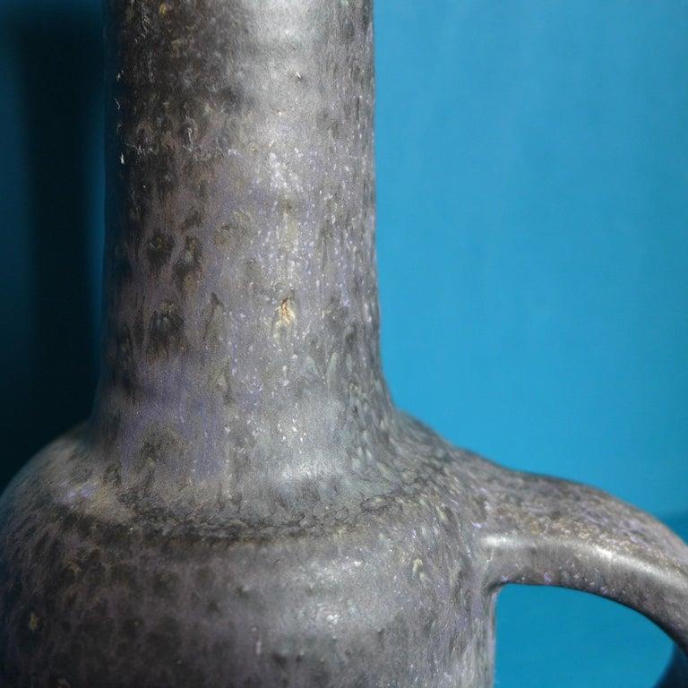 Dutch Black Ceramic Bottle Vase For Sale