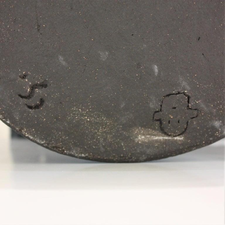 Contemporary Black Ceramic Totem Sculpture, Moodiie For Sale