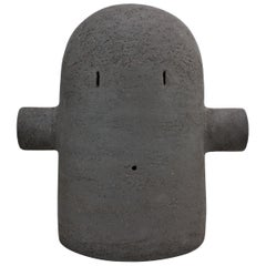 Black Ceramic Totem Sculpture, Moodiie