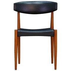 Black Chair Danish Design Vintage Teak Midcentury, 1960s