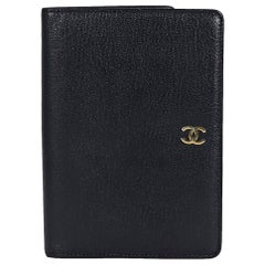 Chanel Black Leather Bifold Wallet