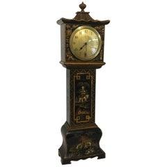 Black Chinoiserie Miniature Longcase Clock, 20th Century