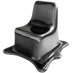 Black Chrome Melting Chair by Philipp Aduatz