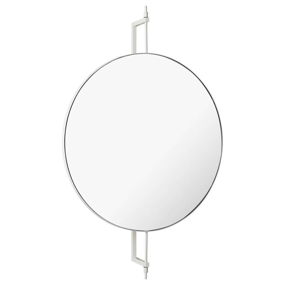 Black Circle Rotating Mirror by Kristina Dam Studio