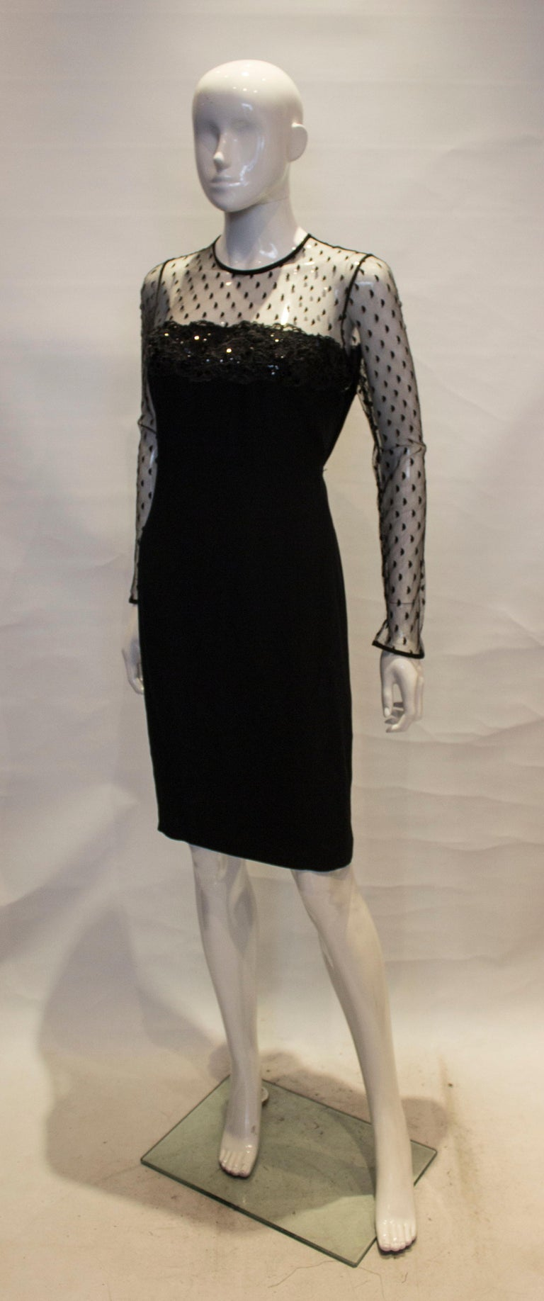 Black Cocktail dress by Adrienne Vittadini In Good Condition For Sale In London, GB