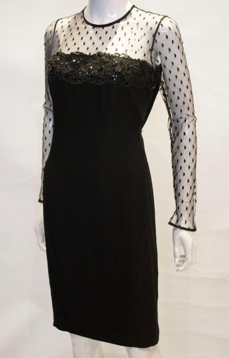 Women's Black Cocktail dress by Adrienne Vittadini For Sale