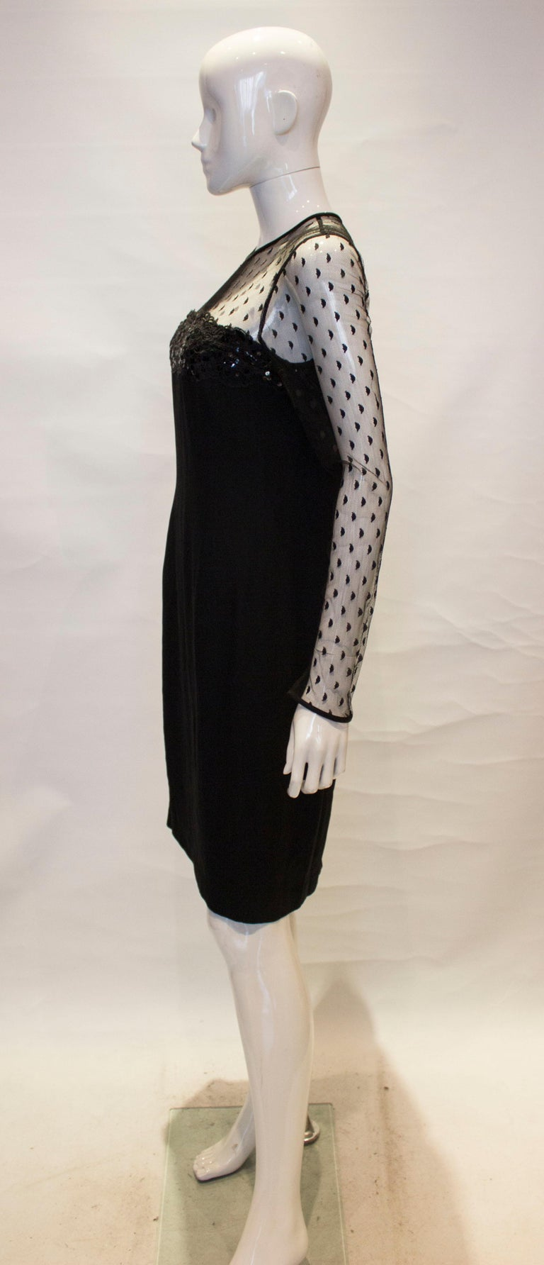 Black Cocktail dress by Adrienne Vittadini For Sale 1
