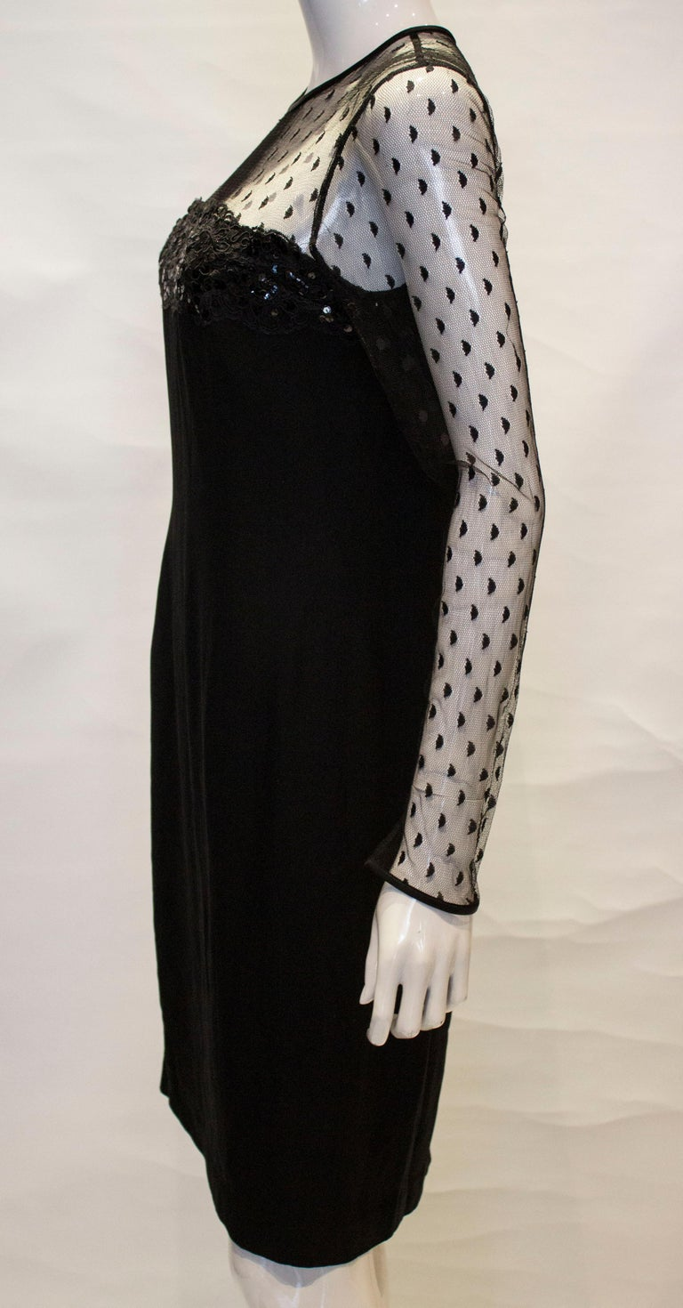 Black Cocktail dress by Adrienne Vittadini For Sale 2