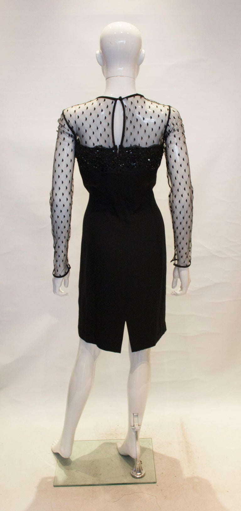 Black Cocktail dress by Adrienne Vittadini For Sale 3