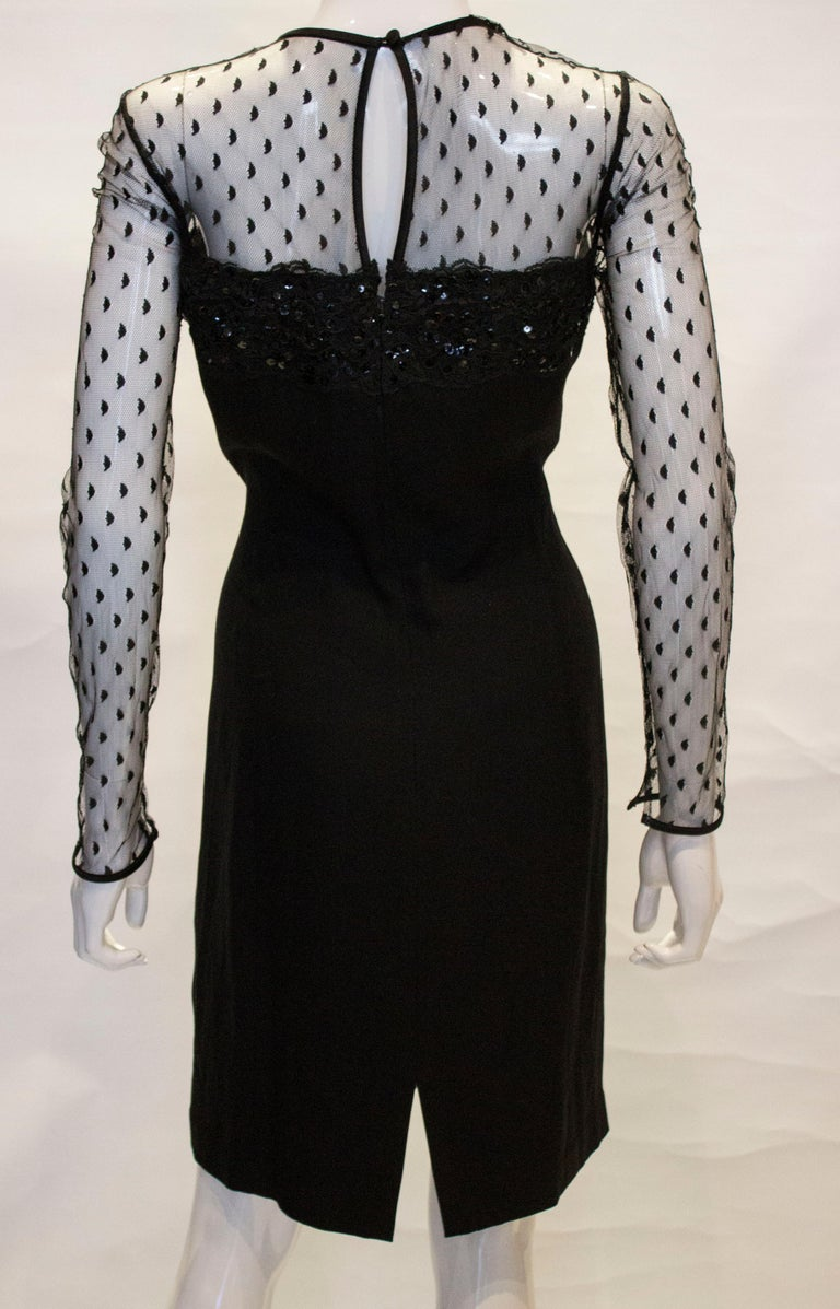 Black Cocktail dress by Adrienne Vittadini For Sale 4