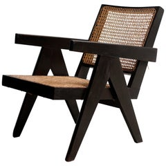 Black Color Easy Chair by Pierre Jeanneret