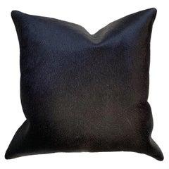 Black Cowhide Pillow