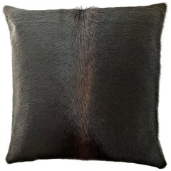 Black Cowhide Pillow, One of Its Kind