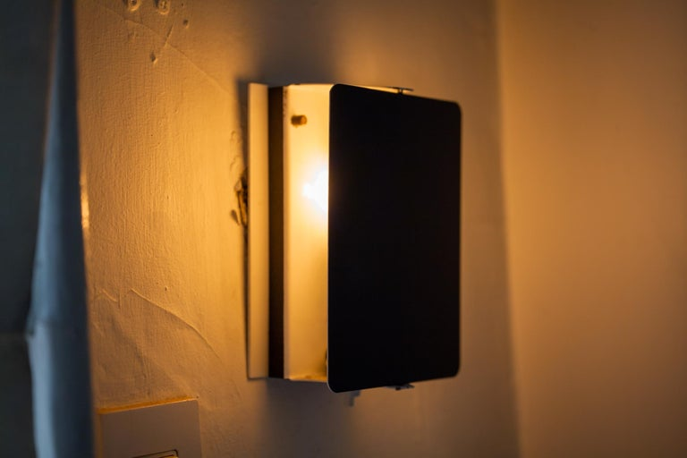 French Black CP1 Wall Sconce by Charlotte Perriand For Sale