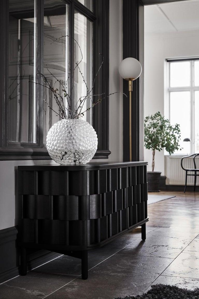 Oiled Black Credenza from Ringvide, Solid Birchwood and Birchveneér, Scandinavian  For Sale