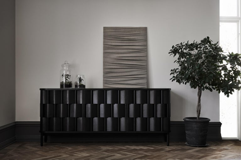 Black Credenza from Ringvide, Solid Birchwood and Birchveneér, Scandinavian  In New Condition For Sale In Visby, SE