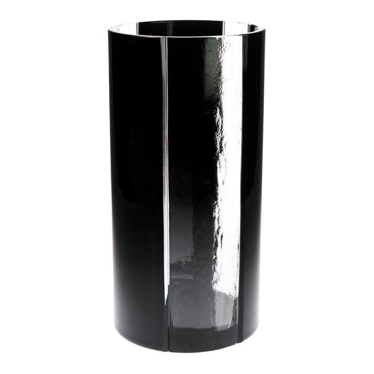 Black Crystal Vase For Sale