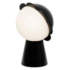 Black Daisy Lamp with LED, Designed by Nika Zupanc, Made in Italy
