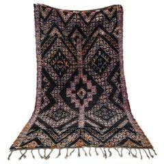 Black - dark Brown Vintage Moroccan Rug Beni MGuild