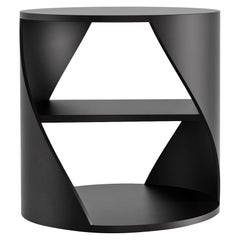 Black Decorative Nightstand, MYDNA Side Table by Joel Escalona