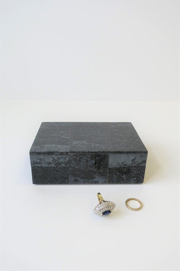 Modern Black Decorative or Jewelry Box For Sale