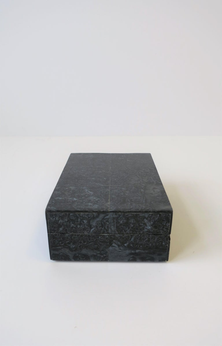Contemporary Black Decorative or Jewelry Box For Sale