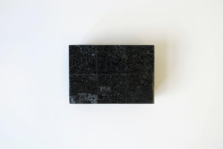 Laminate Black Decorative or Jewelry Box For Sale