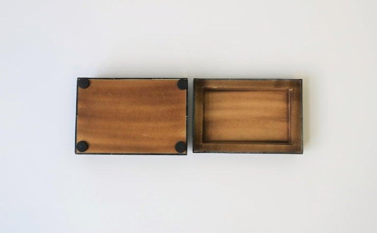 Black Decorative or Jewelry Box For Sale 2
