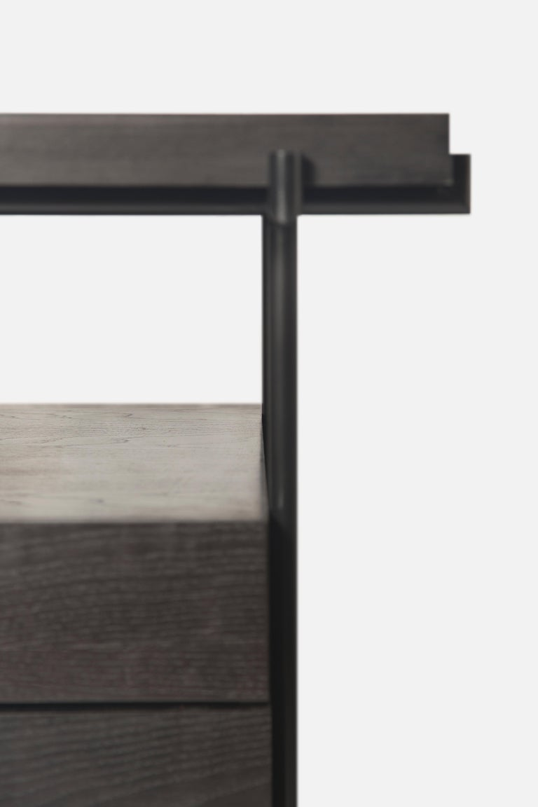 Black Desk Files Drawers, Wood and Metal, Brazilian Mid-Century Modern Style For Sale 1