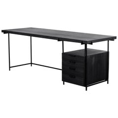 Black Desk with Drawer, Brazilian Modern Style / by Atelier BAM