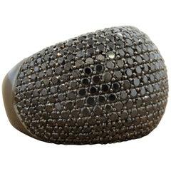 Black Diamond Black Gold Dome Cocktail Ring