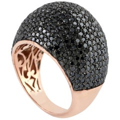 Black Diamond Cocktail Dome Ring