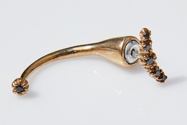 Black Diamond Earring Piercing J DAUPHIN  J DAUPHIN