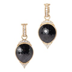 Black Diamond Empress IV Drop Earrings in 18 Karat Gold