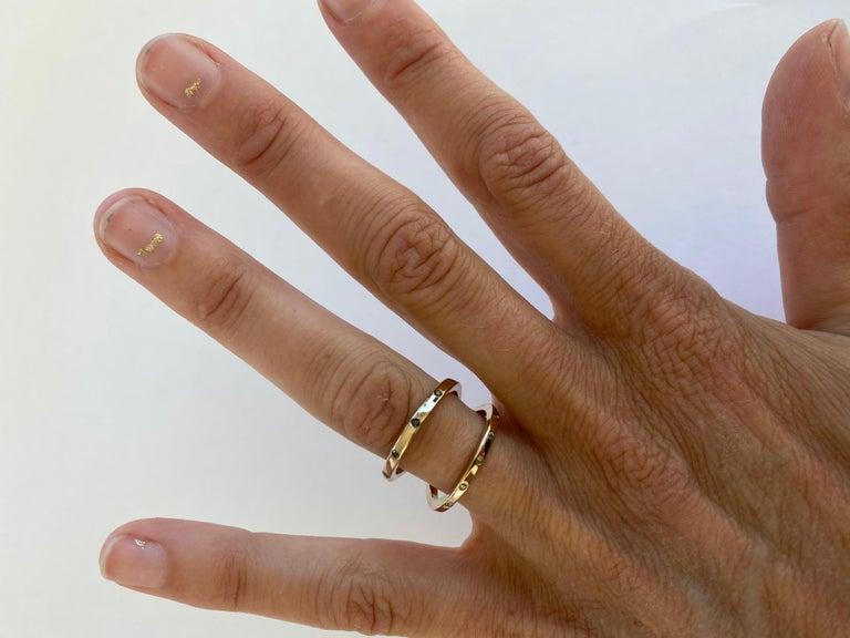Black Diamond Green Sapphire Double Band V Ring Bronze Cocktail Ring Onesie J Dauphin