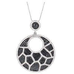 Black Diamond Pave White Gold Necklace