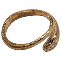 Black Diamond Snake Ring Bronze J Dauphin