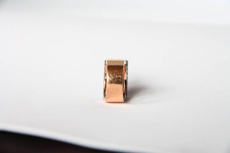 Black Diamonds Spinel 18 Karat Rose Gold Ring For Sale 3
